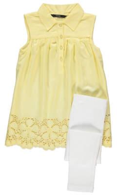 George Embroidered Hem Dress and Leggings Set