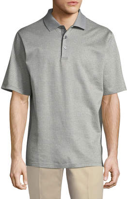 Bugatchi Houndstooth Cotton Polo Shirt
