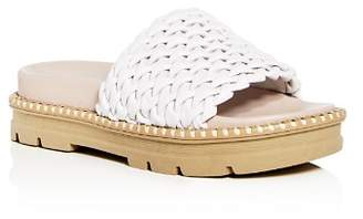 Daniella Lehavi Women's Hanoi Smocked Leather Platform Slide Sandals - 100% Exclusive