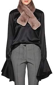 Barneys New York Women's Rabbit Fur Pull-Through Scarf - Gray