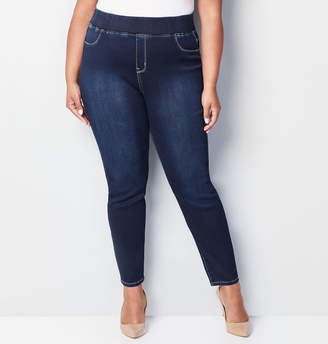 Avenue Butter Denim Pull-On Skinny Jean in Dark Wash