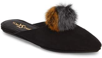 Yosi Samra Vidi Genuine Rabbit Fur Loafer Mule
