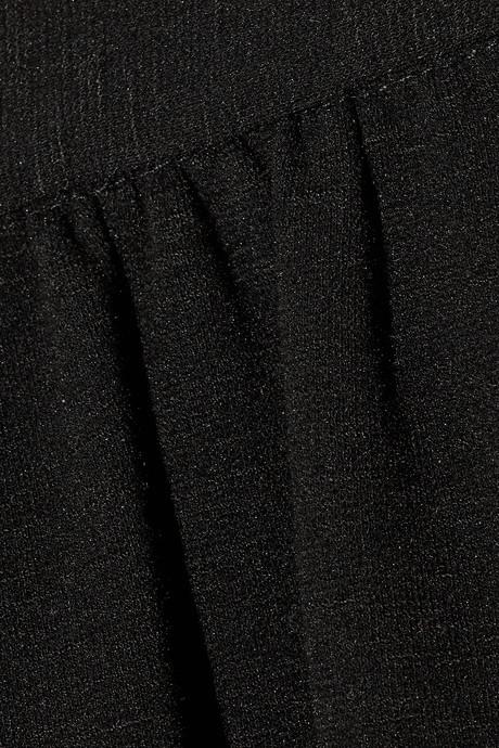 Tibi Oil Slick pleated slub jersey shorts