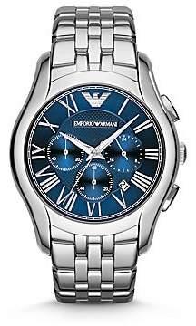 Emporio Armani Men's Round Stainless Steel Chronograph Watch