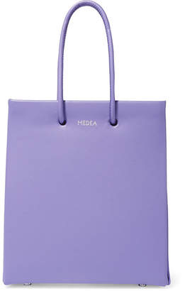 MEDEA - Prima Short Leather Tote - Purple