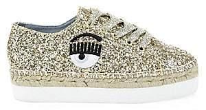 Chiara Ferragni Women's Glitter Platform Sneakers