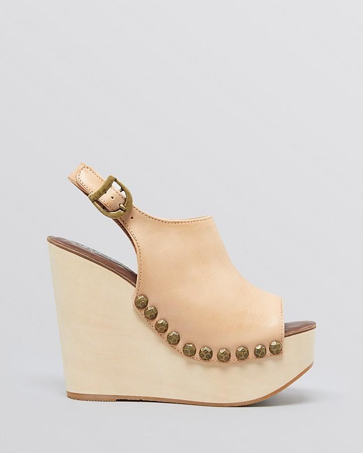 Jeffrey Campbell Open Toe Platform Wedge Sandals - Snick
