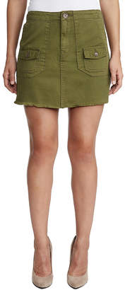 True Religion WOMENS HIGH RISE UTILITY MINI SKIRT