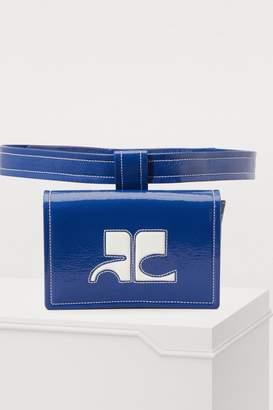 Courreges Vinyl waist bag box