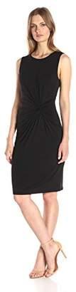Lark & Ro Women's Sleeveless Side-Knot Detail Dress
