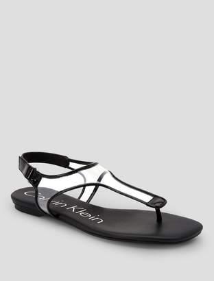 Calvin Klein shilo patent leather sandal