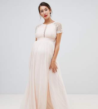 Little Mistress Maternity embellished bodice maxi dress