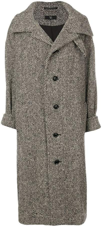 Y's oversized single breasted coat