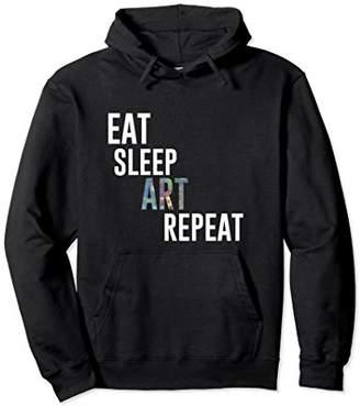 Eat Sleep Art Repeat Hoodie