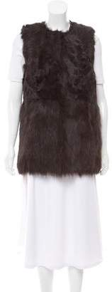 MICHAEL Michael Kors Mock Neck Fur Vest w/ Tags