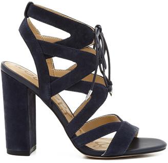 Yardley Lace-Up Heeled Sandal $120 thestylecure.com