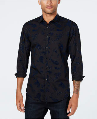 INC International Concepts I.n.c. Men Velvet Paisley Shirt