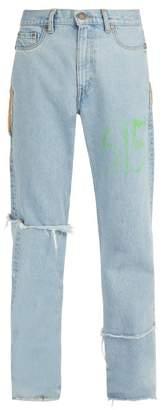 Vetements X Levias 615 Distressed Jeans - Mens - Blue