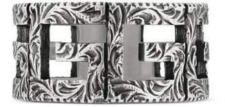 Gucci Ring with Square G motif in silver