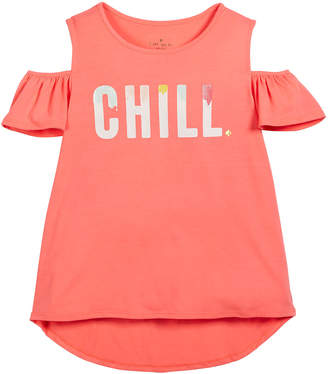 Kate Spade chill cold-shoulder tee, size 7-14