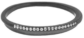 Ten Thousand Things Pave Diamond Fine Band Ring - Rhodium