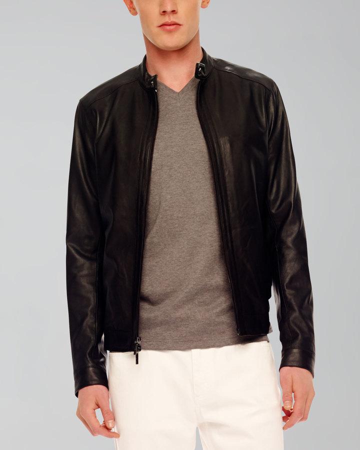 Michael Kors Pieced Leather Jacket