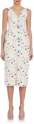 Carolina Herrera Column Sleeveless Printed Dress