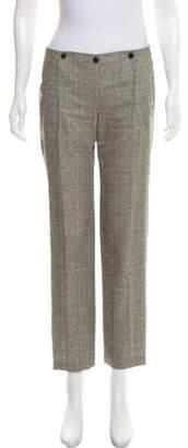 Alexander McQueen Plaid Mid-Rise Pants
