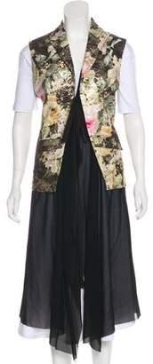 Unconditional Silk Jacquard Vest w/ Tags