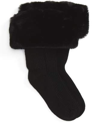 UGG Rain Boot Socks with Faux Fur Cuff