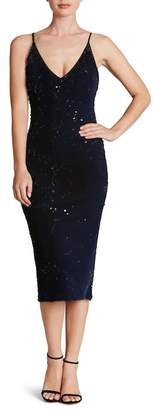 Dress the Population Nina Sequin Velvet Bodycon Dress