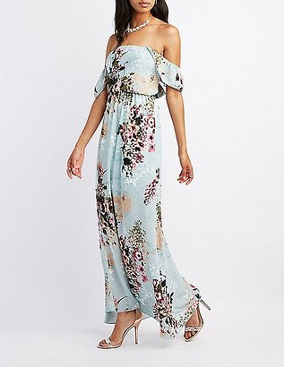 Floral Ruffle Off-The-Shoulder Maxi Dress $49.99 thestylecure.com