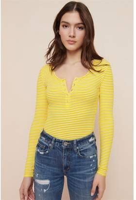 Garage Long Sleeve Snap Front Top - FINAL SALE