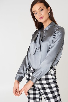 Rut & Circle Rut&Circle Maya Satin Shirt Grey