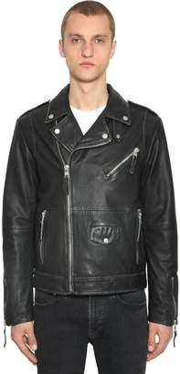 Calvin Klein Jeans VINTAGE LEATHER BIKER JACKET