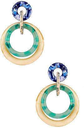 Lele Sadoughi Double Ring Hoop Earring