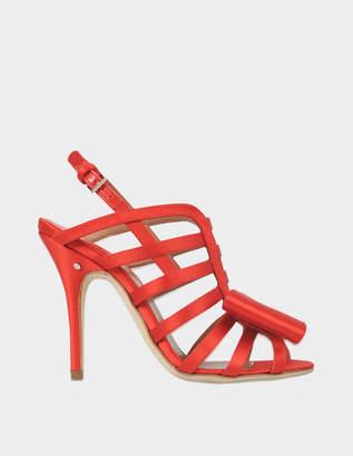 Laurence Dacade Narcisse satin bow sandal