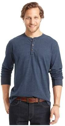 G.H. Bass & Co. Mens Ls Carbonized Henley Shirt 2Xl