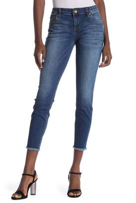 KUT from the Kloth Connie Fray Hem Ankle Skinny Jeans