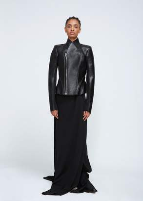 Rick Owens Lilies Neoprene Bonded Leather Jacket