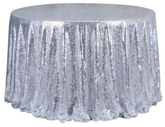 Asewin Round 47'' Sparkle Sequin Tablecloth Cover Wedding Party Banquet Table Decor