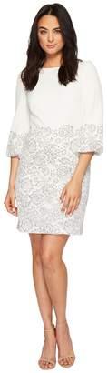 Lauren Ralph Lauren Dorina French Stretch Crepe w/ Fleurissimo Scallop Lace Dress Women's Dress