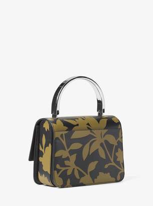 Michael Kors Kylie Small Floral Leather Top-Handle Bag