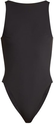 Dos Gardenias - Heartbreaker Cut Out Back Swimsuit - Womens - Black