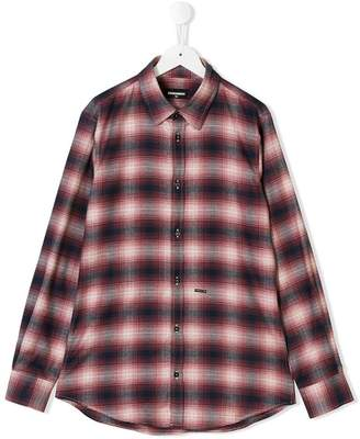 DSQUARED2 plaid flannel shirt