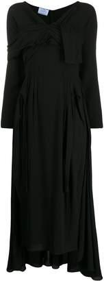 Prada wrap front long dress
