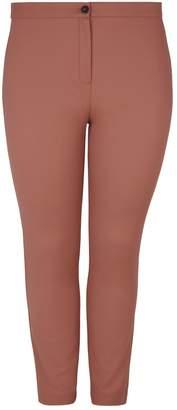 Marina Rinaldi Flat-Front Straight-Leg Trousers