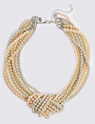 Marks and Spencer Knot Pearl Necklace