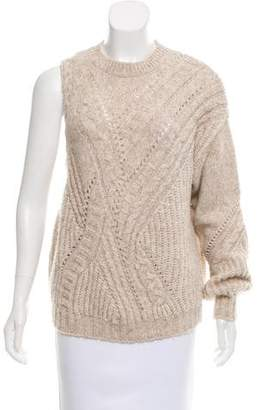 Thakoon Cable Knit Crew Neck Sweater
