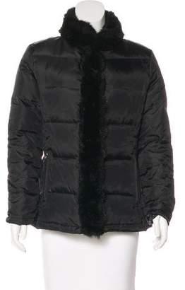 Oscar de la Renta Oscar by Faux Fur-Trimmed Puffer Jacket